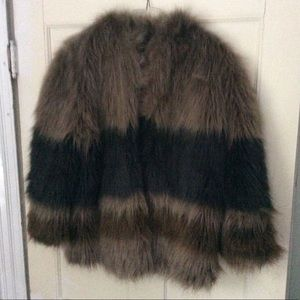 Moda International faux fur driving coat size med